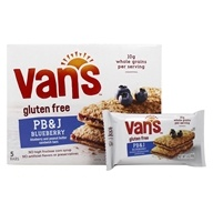 Van's Natural Foods - Gluten-Free Sandwich Bars Blueberry & Peanut Butter - 5 Bars