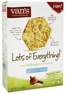 Van's Natural Foods - Gluten-Free Baked Crackers Lots of Everything - 5 oz.