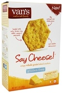 Van's Natural Foods - Gluten-Free Baked Crackers Say Cheese - 5 oz.