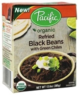 Pacific Foods - Organic Refried Black Beans with Green Chiles - 13.6 oz.