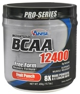 ANSI (Advanced Nutrient Science) - Instantized BCAA Powder 12400 Fruit Punch - 450 Grams
