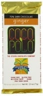 Coco Polo - 70% Dark Chocolate Bar Ginger - 2.5 oz.