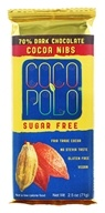Coco Polo - 70% Dark Chocolate Bar Cocoa Nibs - 2.5 oz.