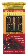 Coco Polo - 70% Dark Chocolate Vegan Bar Cherries - 2.5 oz.