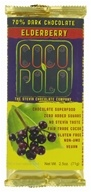 Coco Polo - 70% Dark Chocolate Bar Elderberry - 2.5 oz.