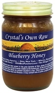 Crystal's All Natural - 100% Pure Raw Honey Blueberry - 17 oz.