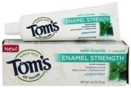 Tom's of Maine - Natural Toothpaste Enamel Strength with Fluoride Peppermint - 4 oz.
