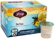Yogi Tea - DeTox Healthy Cleansing Tea Caffeine Free Recyclable K-Cups - 10 K-Cup(s)