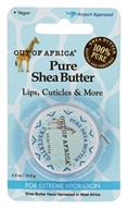 Out Of Africa - Travel Pure Shea Butter for Lips & Cuticles with Vitamin E Unscented - 0.5 oz.