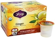 Yogi Tea - Ginger Organic Caffeine Free Tea Recyclable K-Cups - 10 K-Cup(s)