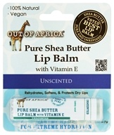 Out Of Africa - 100% Pure Shea Butter Lip Balm Unscented - 0.25 oz.