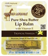 Out Of Africa - 100% Pure Shea Butter Lip Balm Tropical Vanilla - 0.25 oz.