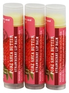 Out Of Africa - 100% Pure Shea Butter Lip Balm Strawberry - 3 Pack