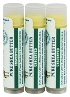 Out Of Africa - 100% Pure Shea Butter Lip Balm Unscented - 3 Pack