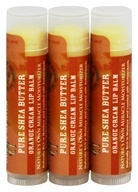 Out Of Africa - 100% Pure Shea Butter Lip Balm Orange Cream - 3 Pack
