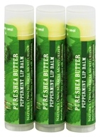 Out Of Africa - 100% Pure Shea Butter Lip Balm Peppermint - 3 Pack