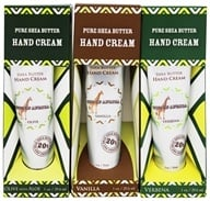 Out Of Africa - Pure Shea Butter Hand Cream Variety Pack - 3 Tubes