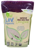 Pure Living - Liv Organic Sprouted Blue Corn Flour - 1.5 lb.