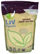 Pure Living - Liv Organic Sprouted Yellow Corn Flour - 1.5 lb.