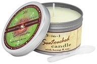 Earthly Body - 3-in-1 Suntouched Candle Massage Oil Moisturizer Guava Blackberry - 6 oz.