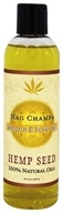 Earthly Body - Hemp Seed Massage & Body Oil Nag Champa - 8 oz.