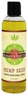Earthly Body - Hemp Seed Massage & Body Oil Guava Blackberry - 8 oz.