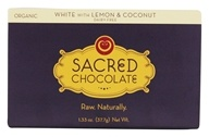 Sacred Chocolate - Organic Rectangles Chocolate Bar White with Lemon & Coconut - 1.33 oz.