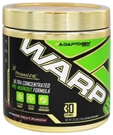 Adaptogen Science - Warp 5 Ultra Concentrated Pre-Workout Formula Xtreme Fruit Punch 30 Servings - 240 Grams