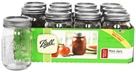 Ball - Regular Mouth 16 oz. Pint Mason Jars - 12 Count