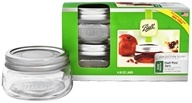 Ball - Wide Mouth 8 oz. Half Pint Mason Jars Elite Collection Design Series - 4 Count
