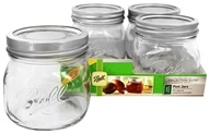 Ball - Wide Mouth 16 oz. Pint Mason Jars Elite Collection Design Series - 4 Count