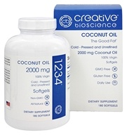 Creative BioScience - Coconut Oil 1234 2000 mg. - 180 Softgels