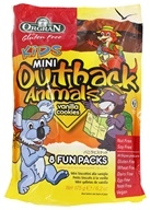 Orgran - Gluten Free Kids Mini Outback Animal Cookies 8 Fun Pack Vanilla - 6.2 oz.