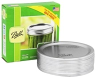 Ball - Wide Mouth Mason Jar Lids - 12 Pack