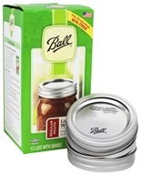 Ball - Regular Mouth Mason Jar Lids with Bands - 12 Pack