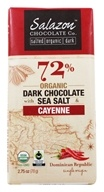 Salazon - Organic Dark Chocolate with Sea Salt & Cayenne - 2.75 oz.