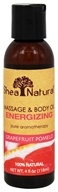 Shea Natural - Massage & Body Oil Energizing Grapefruit Pomelo - 4 oz.