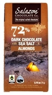 Salazon - 72% Dark Chocolate with Sea Salt & Almonds - 2.75 oz.