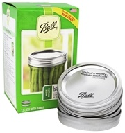 Wide Mouth Mason Jar Lids with Bands - 12 Pack