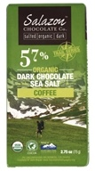 Salazon - Organic Dark Chocolate with Sea Salt & Cracked Organic Coffee - 3 oz.