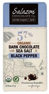 Salazon - Organic Dark Chocolate with Sea Salt & Cracked Black Pepper - 3 oz.