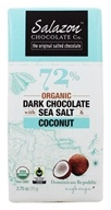 Salazon - 72% Organic Dark Chocolate with Sea Salt & Organic Coconut - 2.75 oz.
