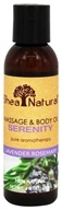 Shea Natural - Massage & Body Oil Serenity Lavender Rosemary - 4 oz.