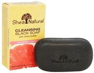 Shea Natural - Cleansing Black Soap with Shea Butter Grapefruit Pomelo - 5 oz.