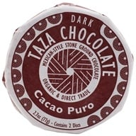 Taza Chocolate - Mexicano Disc 70% Dark Mexican-Style Stone Ground Chocolate Cacao Puro - 2 Disc(s)