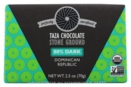 Taza Chocolate - 80% Dark Stone Ground Organic Chocolate Bar - 3 oz.