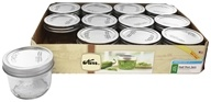 Kerr - Wide Mouth 8 oz. Half Pint Mason Jars Freezer Safe - 12 Count