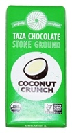 Taza Chocolate - Tazitos Minibar 65% Dark Stone Ground Organic Chocolate Coconut Crunch - 0.85 oz.
