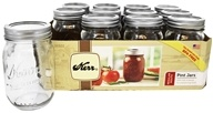 Kerr - Regular Mouth 16 oz. Pint Mason Jars - 12 Count