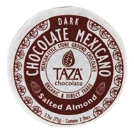 Organic Dark Chocolate Mexicano Discs Salted Almond - 2 Disc(s) by Taza Chocolate